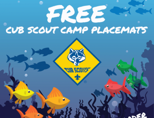 FREE Cub Scout Camp Placemats